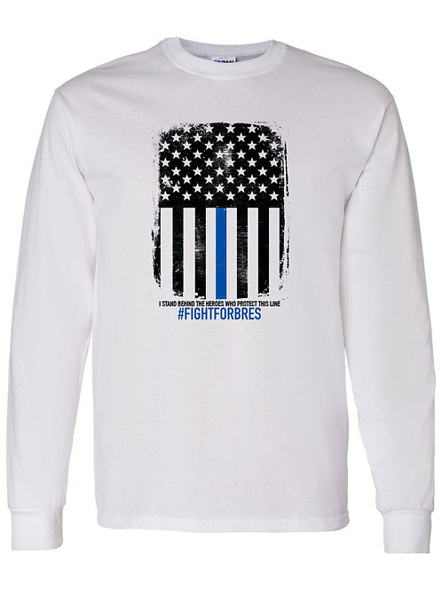 Black & Blue Flag Long Sleeve Shirt #fightforbres