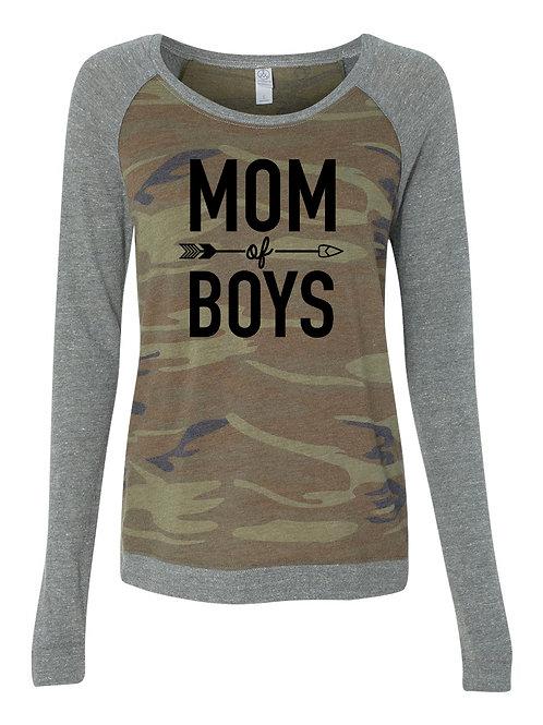 Mom of Boys Raglan Sleeve Pullover