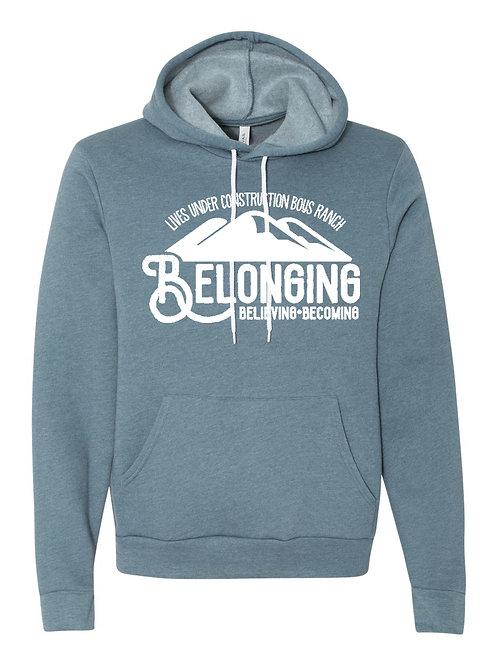 Mountain Hoodie Sweatshirt : white lettering