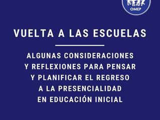 Vuelta a las escuelas - Consideraciones de OMEP Argentina