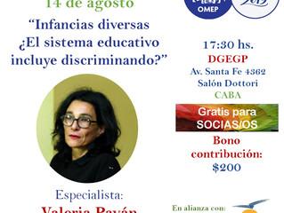 """TERTULIA: """"Infancias diversas ¿El sistema educativo incluye discriminando?"""" con la especialista Vale"""