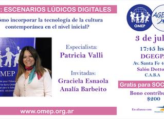 ESCENARIOS LÚDICOS DIGITALES a cargo de Patricia Valli