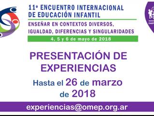 Convocatoria a presentación de experiencias para el 11° Encuentro Internacional