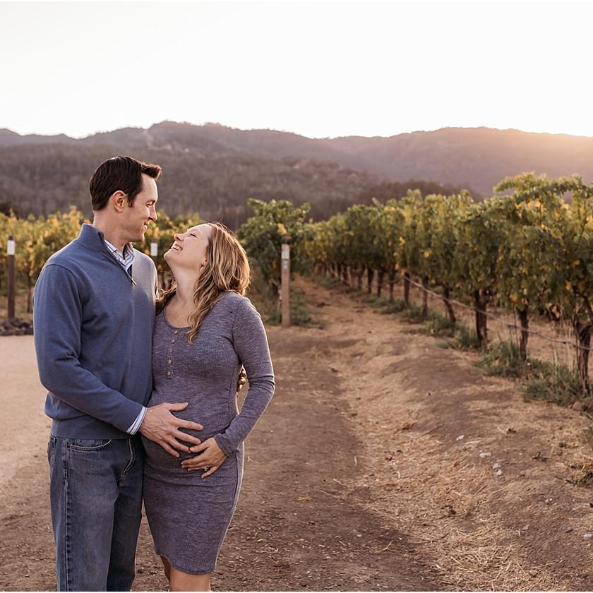 maternity, couple, napa