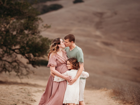 So Much Love During This Sunset Maternity Session!  Petaluma, CA