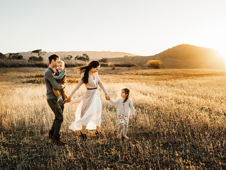 Light, Laughter and Love!  Beautiful Golden Hour Family Photo Session in Novato, California