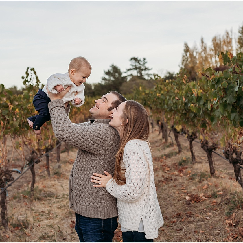 sunset, golden hour, family photographer, family photography, baby, baby photos, vineyard, Sonoma County, winery, golden hour, baby photographer
