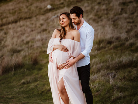 Gorgeous Sunset Maternity Session in Tiburon, CA!