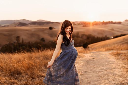 Golden Hour Maternity Photographer, Sonoma County, Diana Jex Photography
