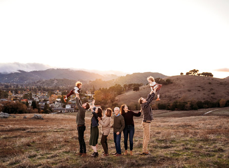 Large Family Sunset Photo Session, Novato, CA