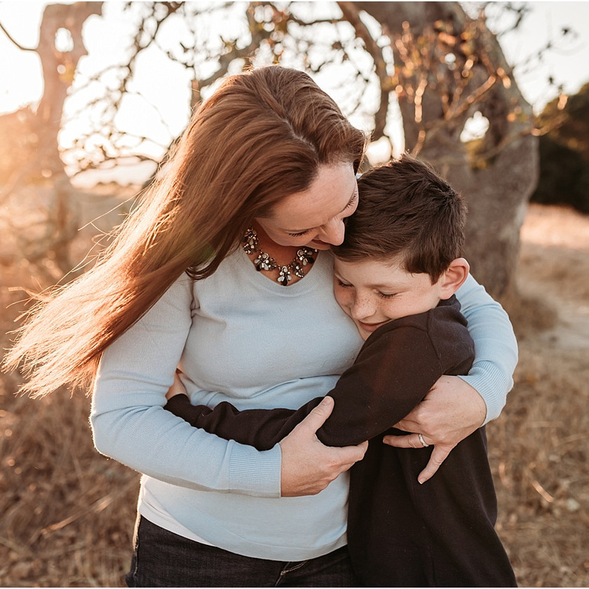 sunset, family, Petaluma, big sister, little brother, Sonoma County, Santa Rosa, sunset, golden hour, family photographer, Diana Jex, family photography, portraits