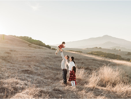 Sunset Family Photography Session, Marin County