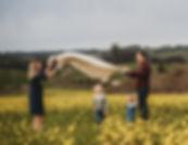 Family in Mustard Field, Sonoma Conty, Diana Jex