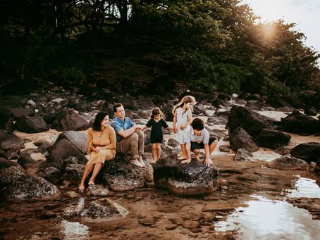 Kauai Sunset Family Session, Where Heaven and Earth Collide