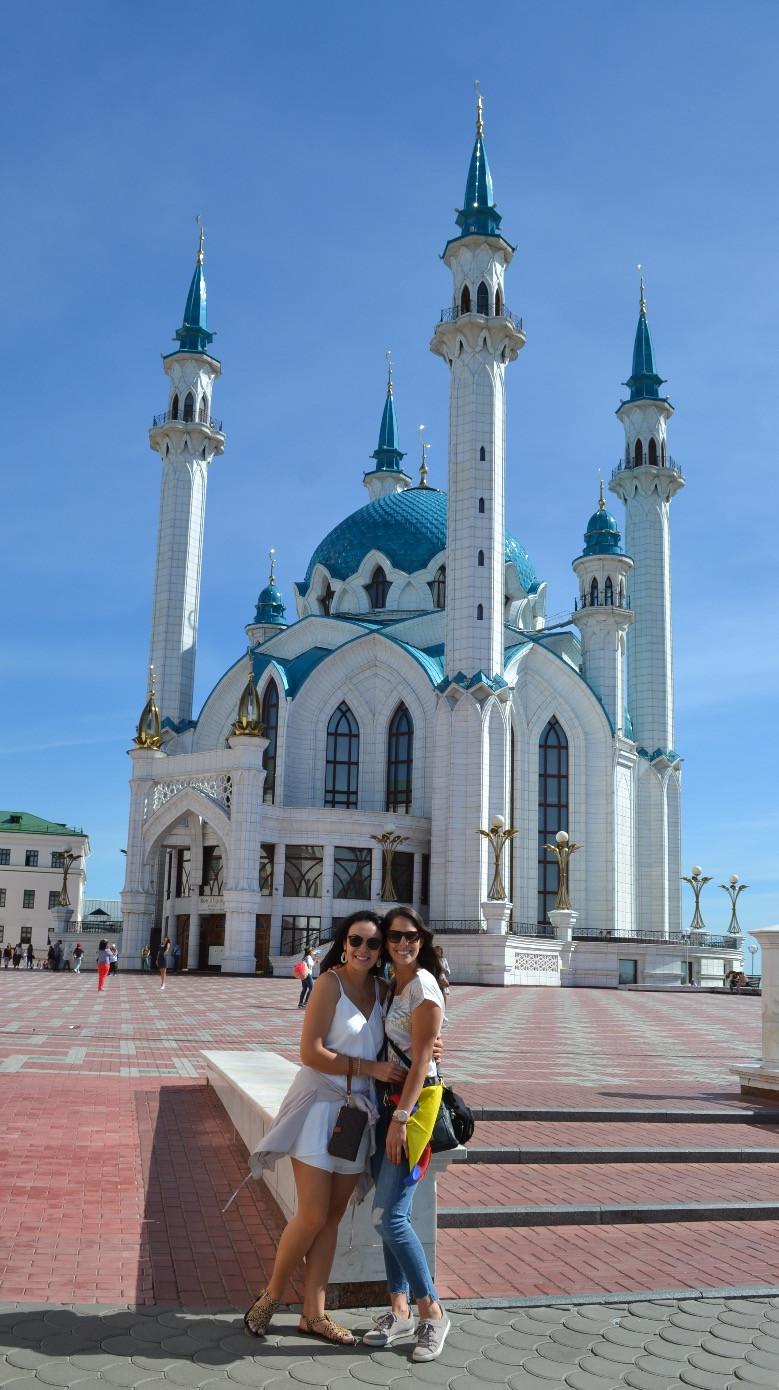 Qolşärif Mosque with dear friend @sabina_esthetician