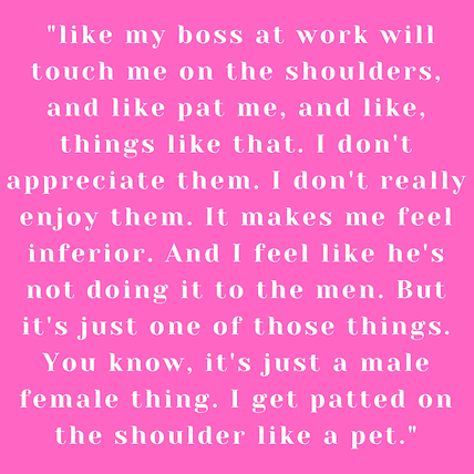 like my boss at work will touch me On th