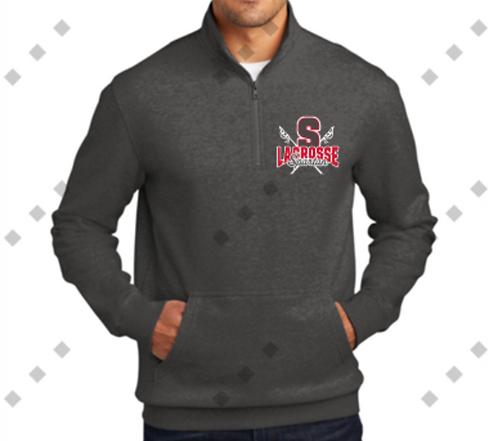 Charcoal Gray 1/4 Zip Spartan Lacrosse