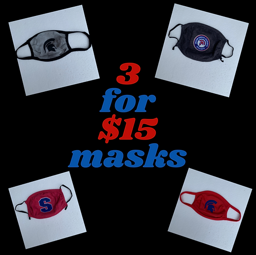 3 for $15 Masks
