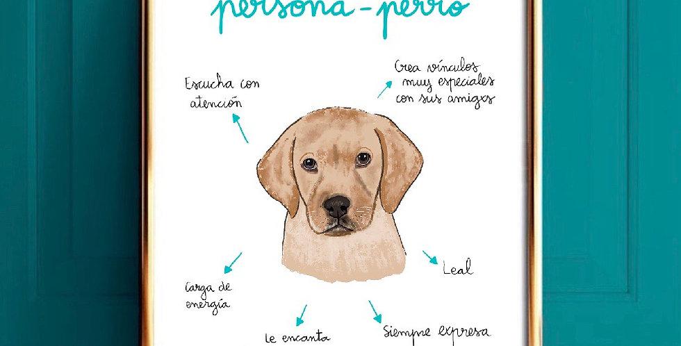 Lámina persona-perro