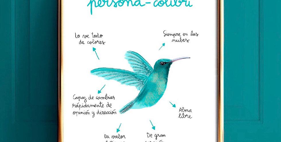 Persona-colibrí