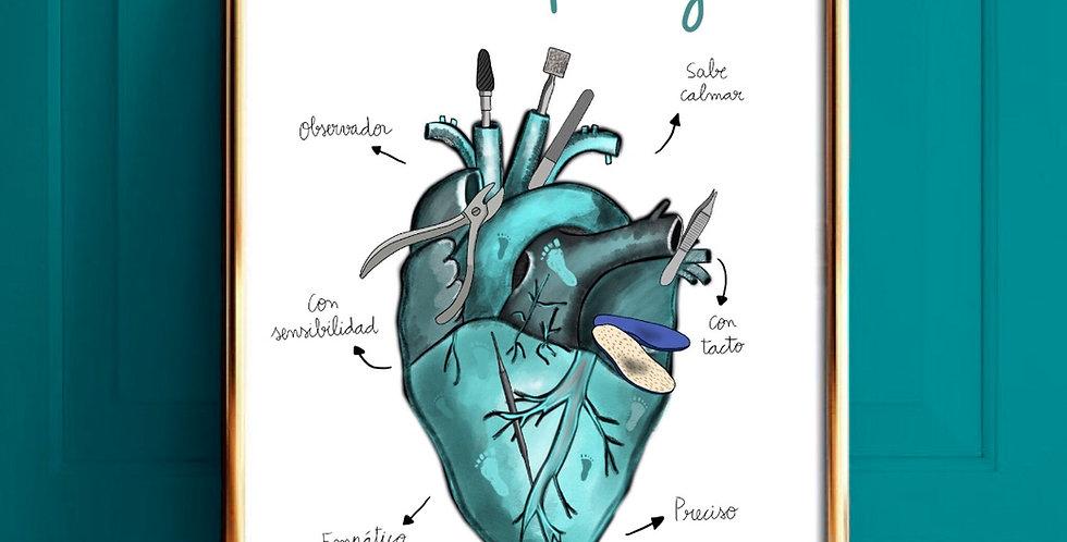 Corazón Podólogo/a