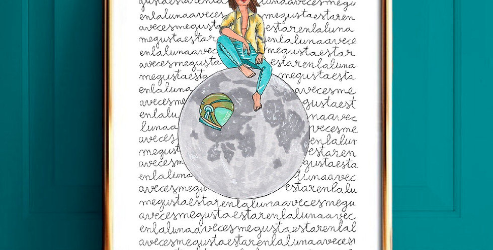 Lámina mujer Luna