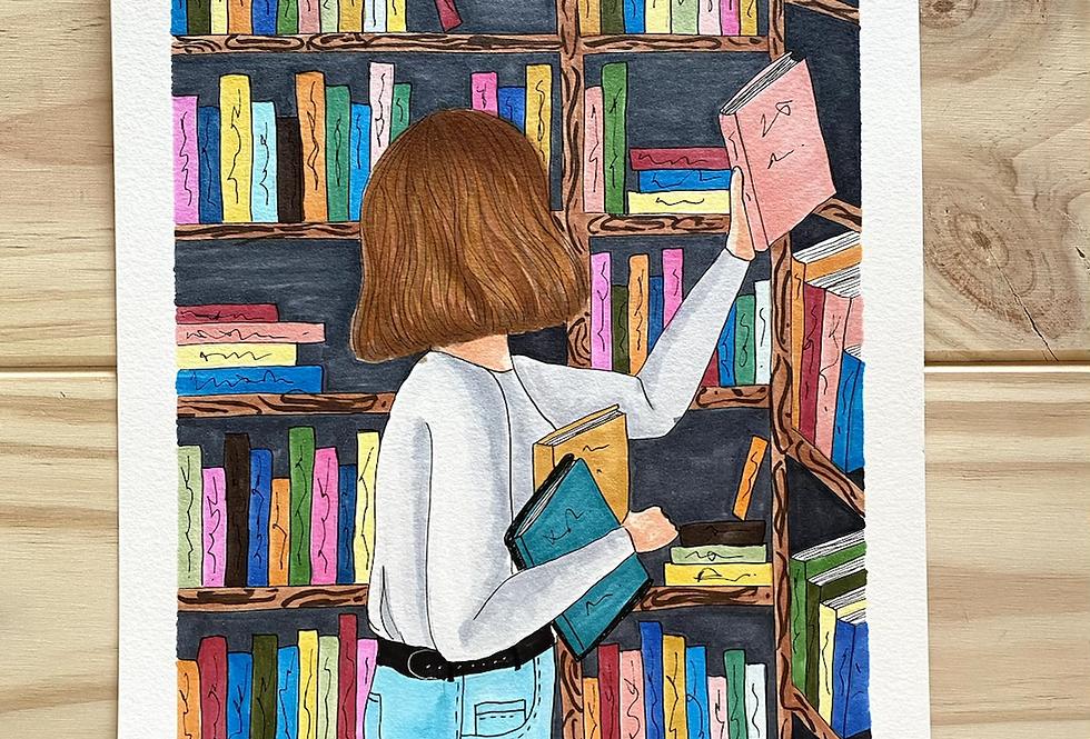 Lámina Original Biblioteca