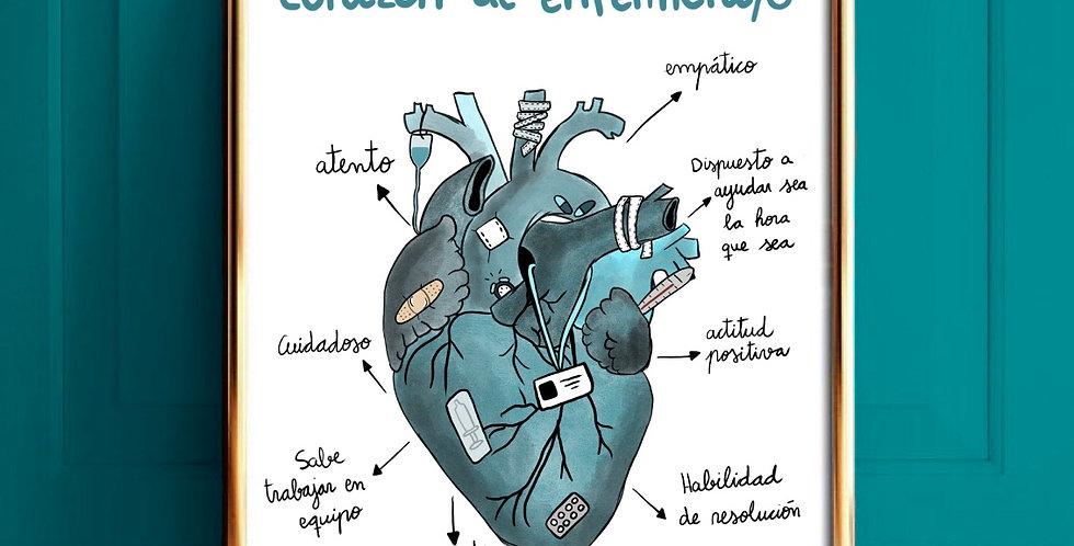 Corazón Enfermera/o