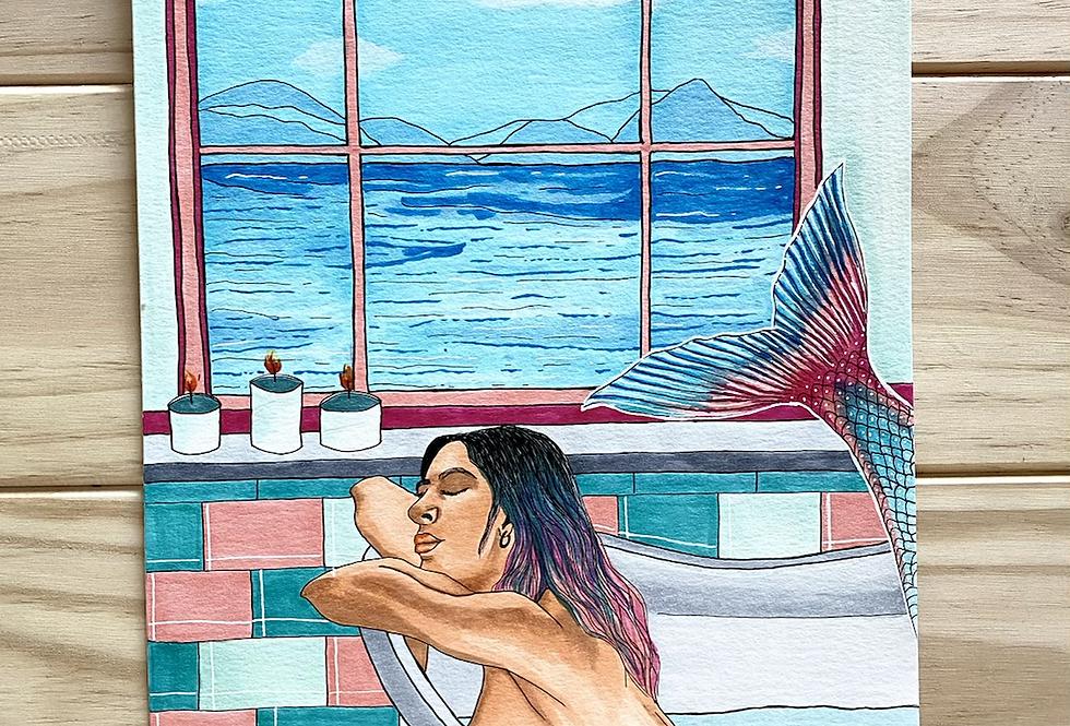 Lámina Original Sirena