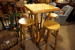 Rustic Bistro Table with 4 Chairs