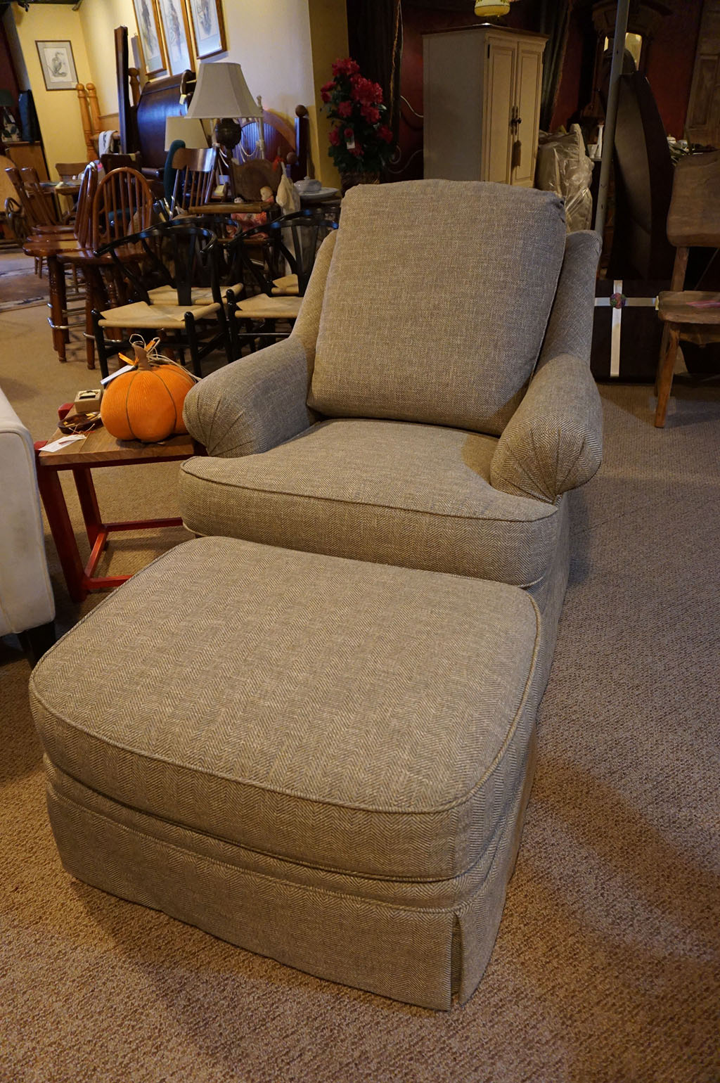 Jessica Charles Swivel rocker with Ottoman