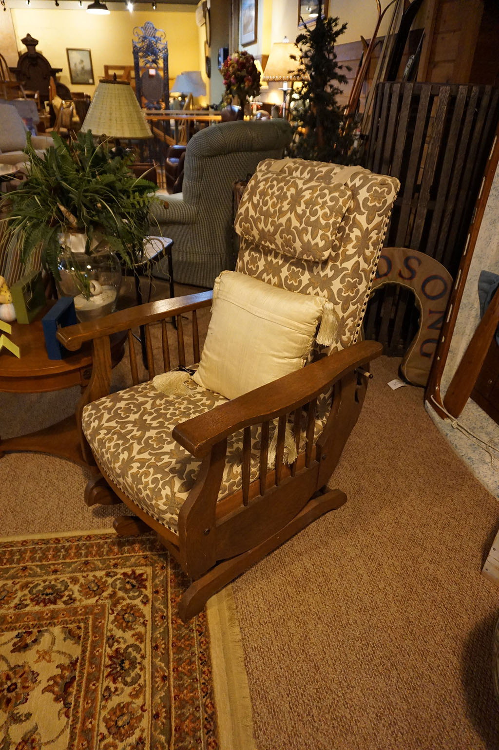 Antq Oak Mission Style Rocker & Recliner