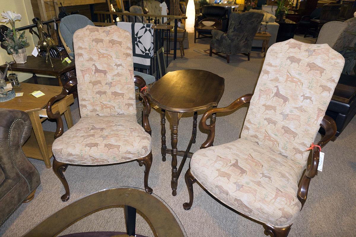 Custom Animal Print Chairs
