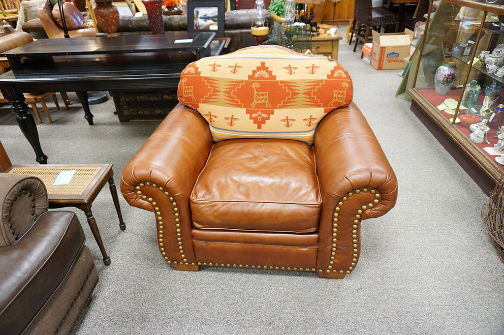 Marsfield Leather Oversize Chair