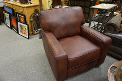 Leather Oversized Chair