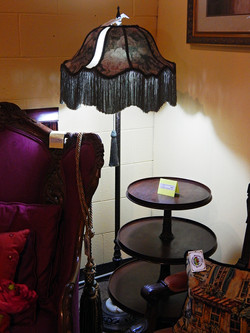 Vintage Green Floor Lamp with Shade