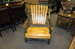 Log Adirondack Chair