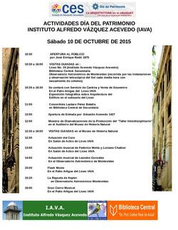 Programa Patrimonio  2015