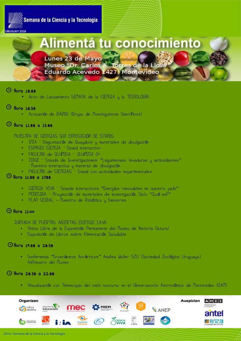 Programa Semana CyT final 4
