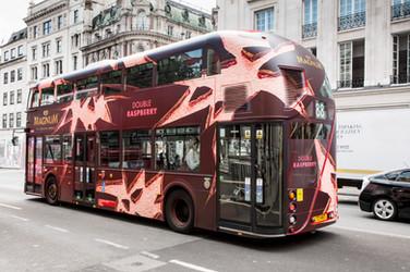 Magnum Ice Cream Bus Wrap
