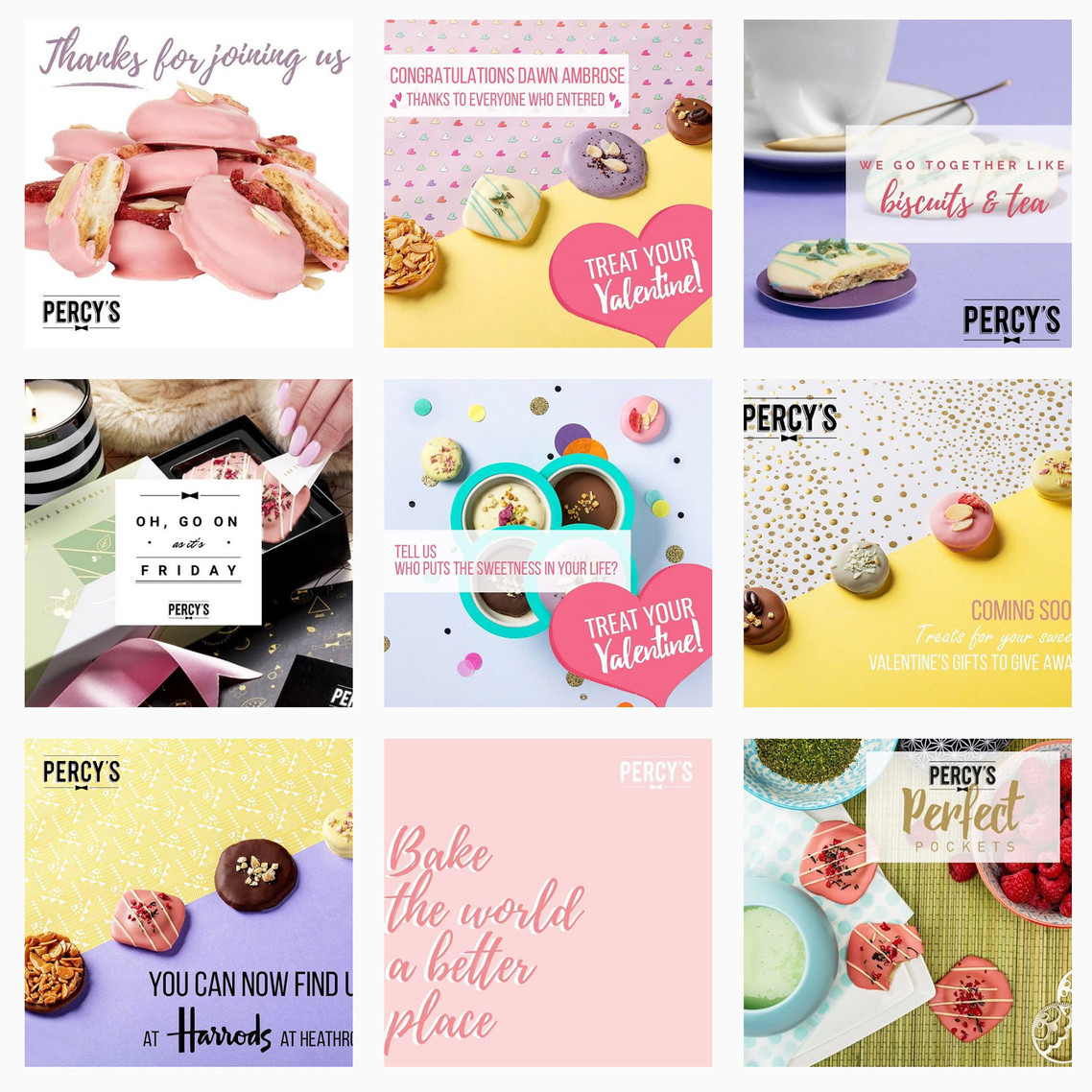Percy's luxury biscuits Instagram