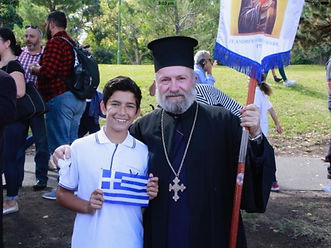 Father Stavros and Greek student