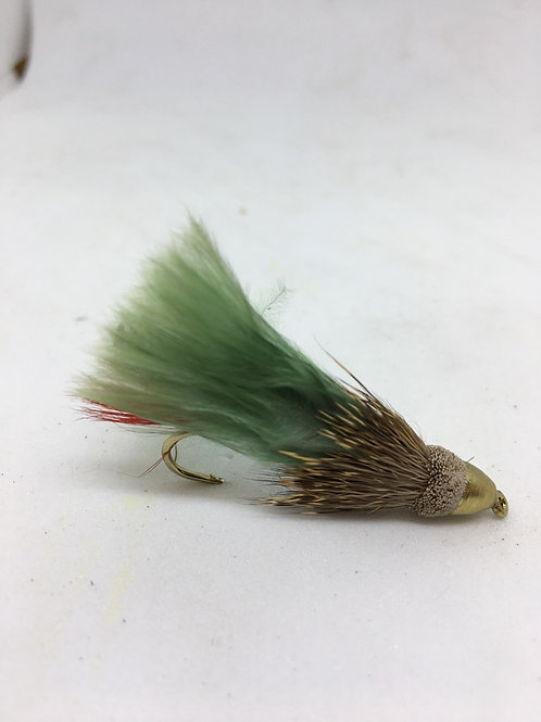 Cone Head Muddler Minnow - Green