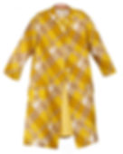 Childrens vintage coat yellow plaid