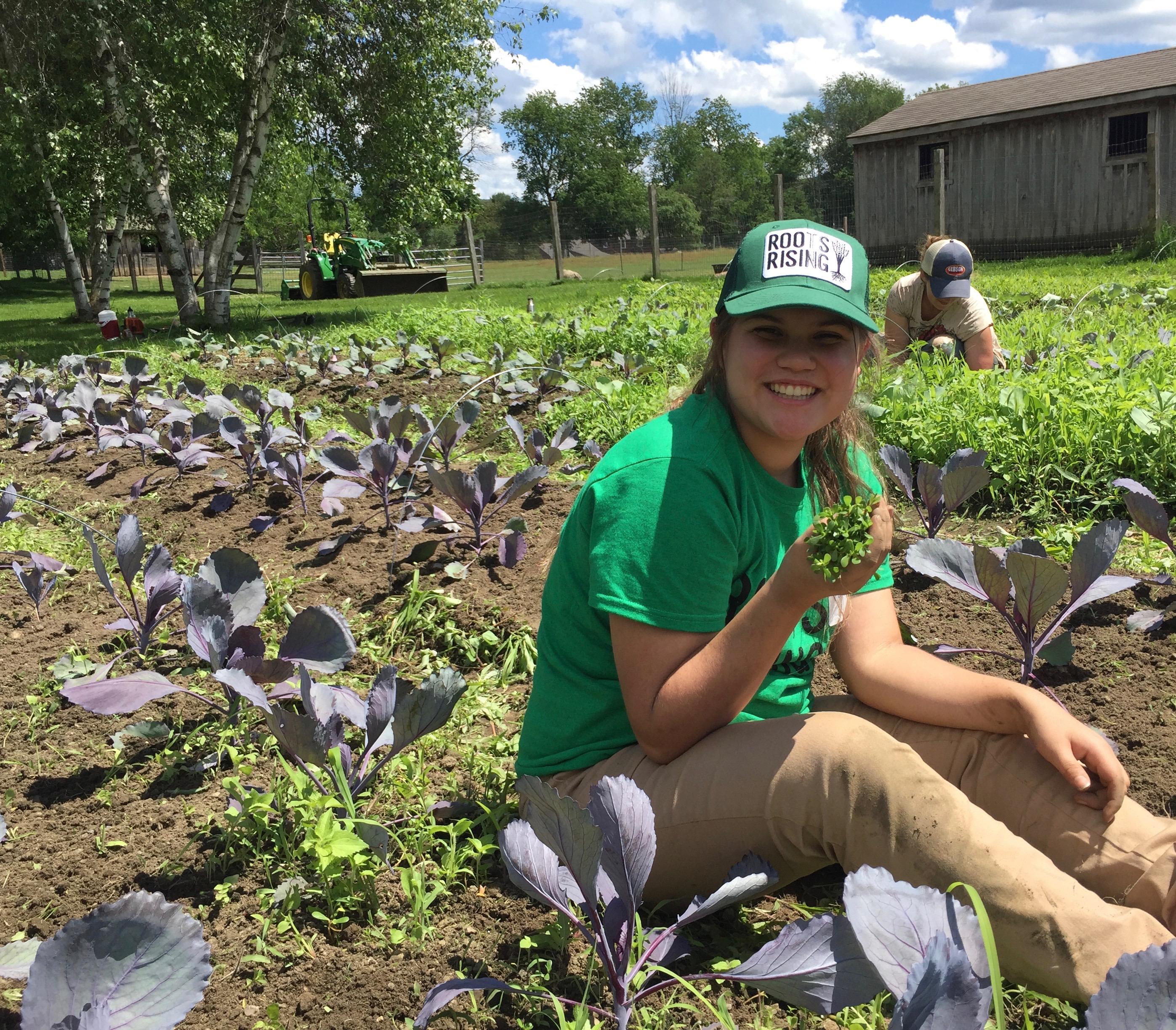Joannda loves finding edible weeds.
