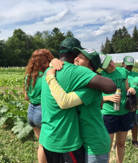 Staff and Crew share a sweet hug.
