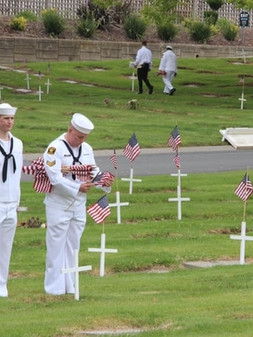 Memorial Day Flags and Crosses 5