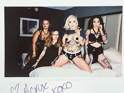 Acrux and Friends Signed Instax 1