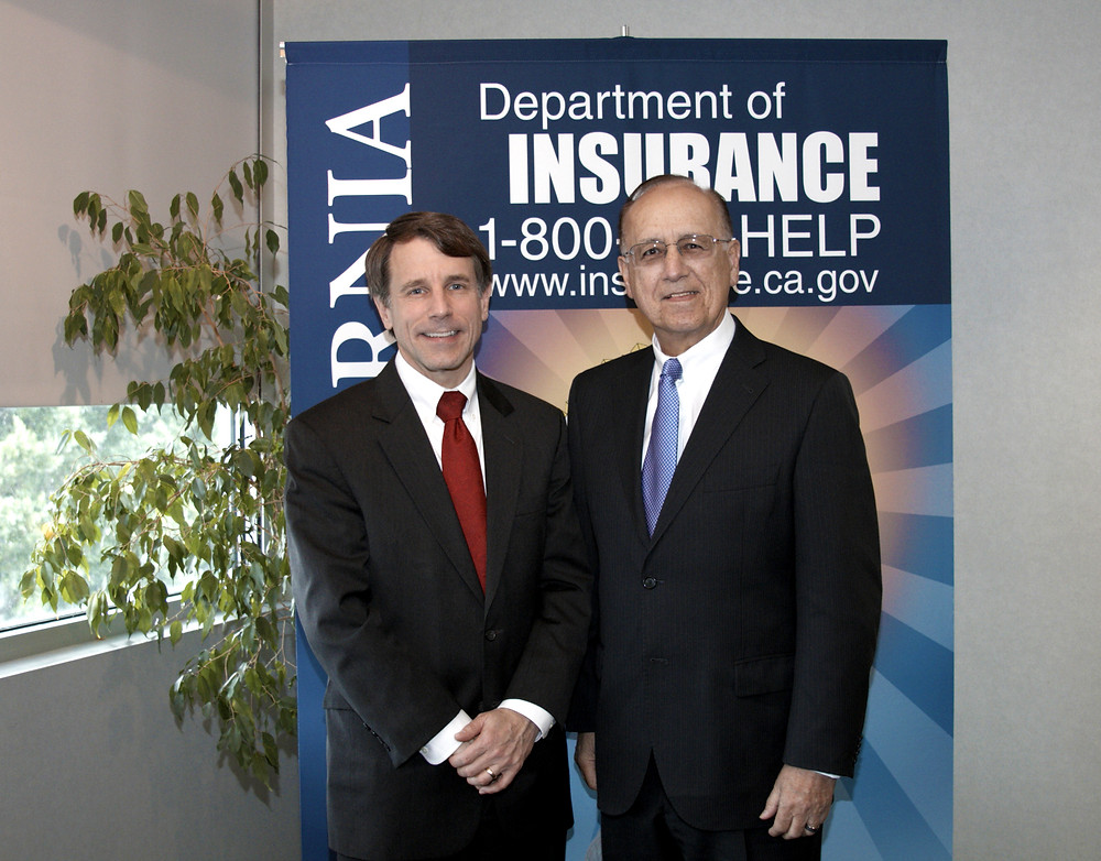 John Casas, CEO of JT2 with Insurance Commissioner Dave Jones