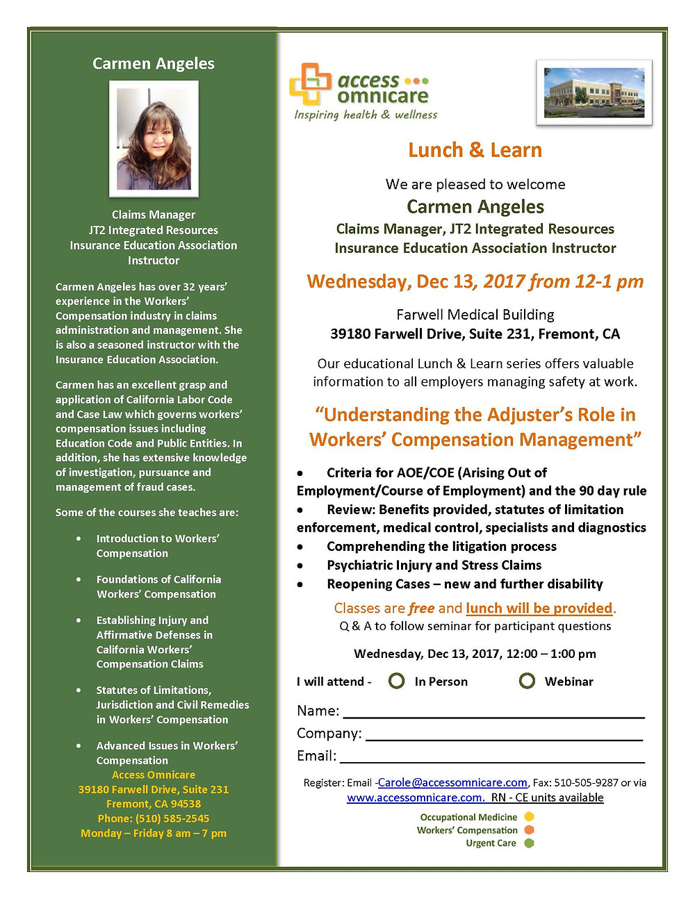 Lunch and Learn-JT2-Omnicare